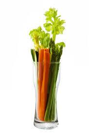 Groente dieet wortel en selderij